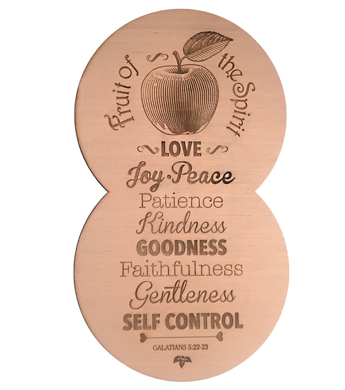 Fruit of The Sprit Wooden Plaque $18.00